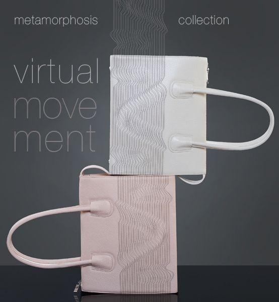 borse in pelle con incisioni laser -  Virtual movement
