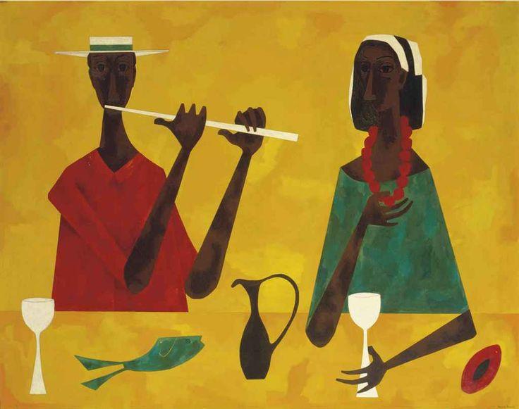 Pareja en la mesa - cundo Bermudez 1959