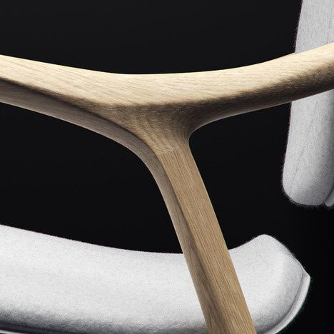 product - curve and tension chair with gorgeous wishbone joint