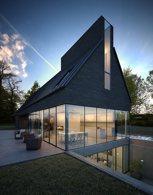 Water End House by Assembly Studios, via Behance