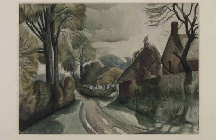 """The Lane""by John Nash, 1923 #art #classic #painting"