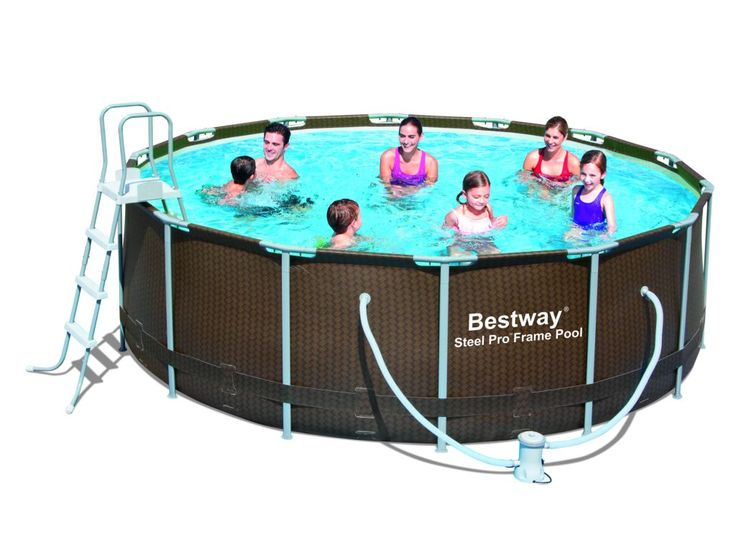 Piscina Desmontable Imitación Ratán 427x122 Bestway #piscinas #desmontables