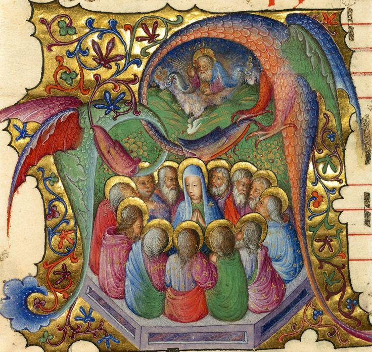 """Iniziale """"A"""" raffigurante """"La Pentecoste"""", miniatura tratta da Antifonario (Lombardia,1430-1435), Getty Museum, Los Angeles. Tweet Articoli correlatiBELLA VOCECHI HA LASCIATO APERTA LA FINESTRA?LETTERALMENTE FOLLEDUE BOSCAIOLI E UNA CICOGNAUNA PAUSA NEL BOSCONELL'AURORA Commenti commenti"""