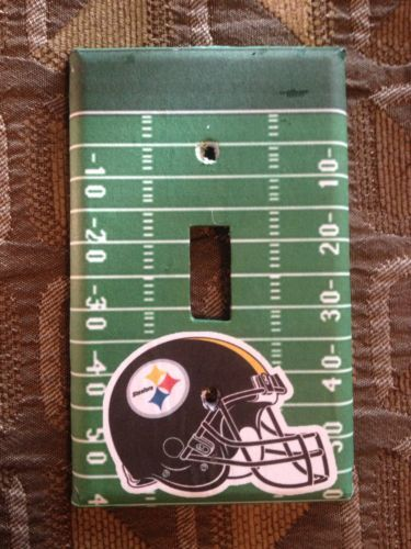 perfect easter gift pittsburg steelers football field light switch cover 10