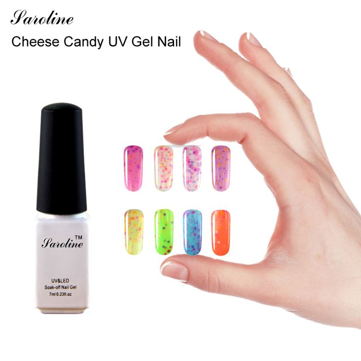 Saroline 7ml Cheese Candy Enamel Semi UV Gel Nail Lacquer Cheap Nail Polish Soak off Permanent UV Gel Curing #Affiliate