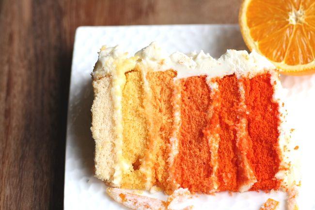 Outrageous Orange Ombre Cake - foodista.com