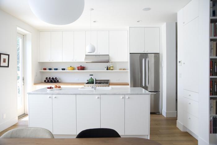 Elizabeth Roberts, white Ikea kitchen in Brooklyn, Fort Greene, townhouse remodel, Remodelista