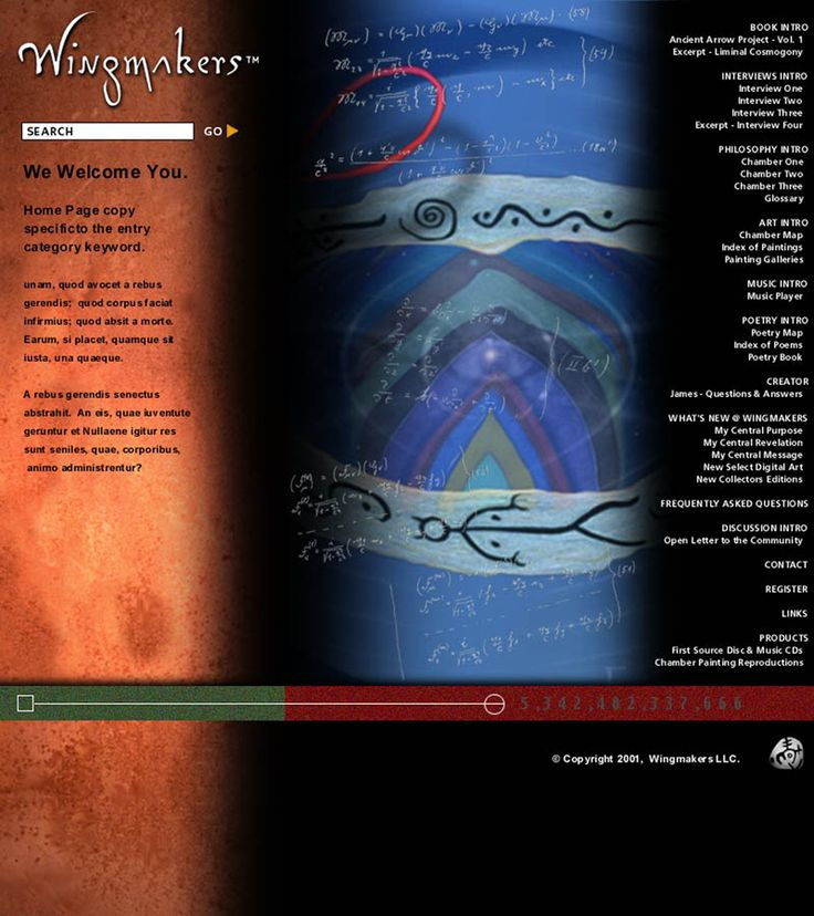 Update home page for WingMakers.com circa February 2001 to coincide with the launch of First Source CD.