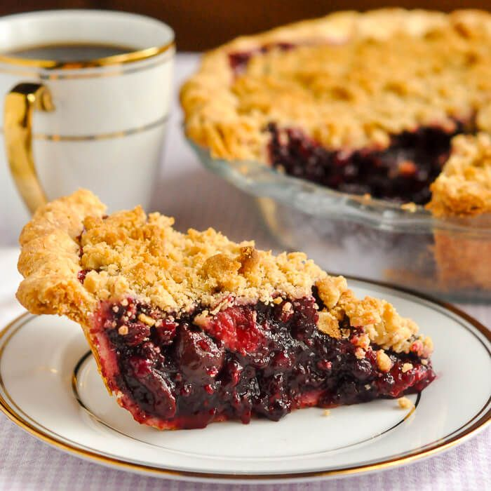 Bumbleberry Crumble Pie is a mix of leftover frozen fruits & berries leftover from other baking projects and smoothie making turned into a scrumptious pie.