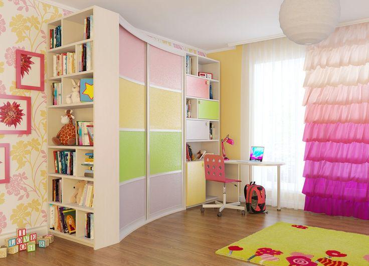 10 красивых шкафов для детской комнаты