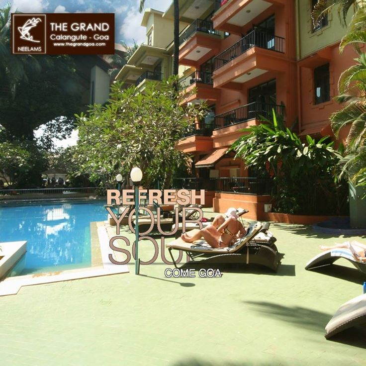 Relax by the poolside and let go of all your worries. #neelamthegrand #refreshyoursoul #comegoa