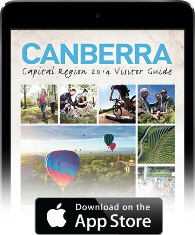 Download the Canberra Region Visitor Guide iPad app