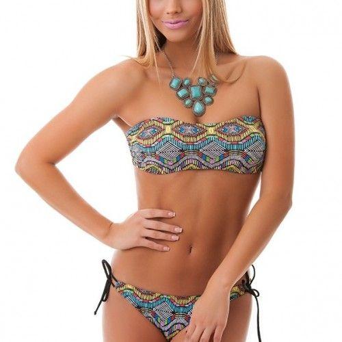 Paloma ethno mintás csík bikini