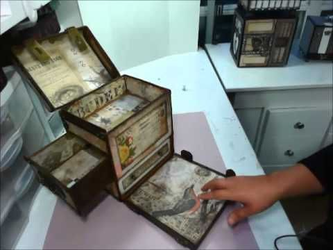 ▶ Hidden Treasures Trunk, Tim Holtz Wall Flower Collection - YouTube