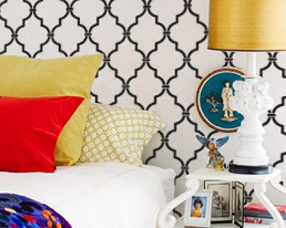 les 25 meilleures id es de la cat gorie pochoir marocain. Black Bedroom Furniture Sets. Home Design Ideas