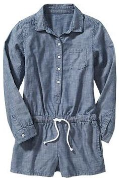 Love this denim romper for girls from Old Navy #kidsfashion