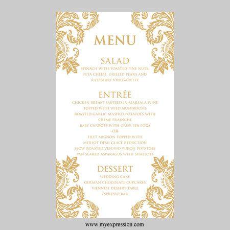 Wedding Menus Templates. wedding menu template 24 download in pdf ...