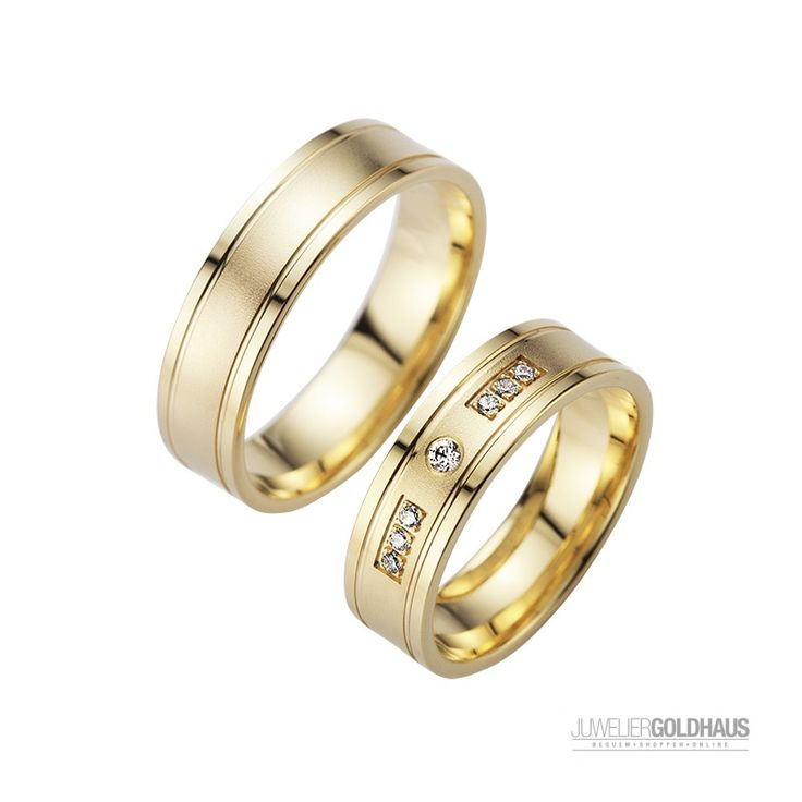 Schöne Trauringe Eheringe aus Gold - Gelbgold - HR201   #Trauringe #Eheringe #Gold