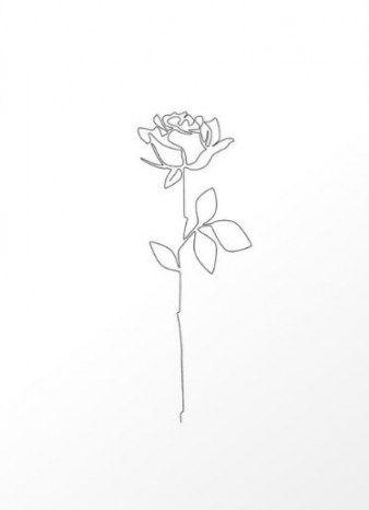 67  Ideas For Flowers Sketch Outline Ink – Roya