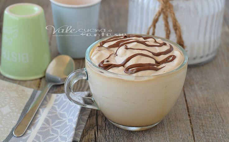 CREMA FREDDA DI CAFFE AL GINSENG E NUTELLA fresca, profumata, velocissima, ricetta dolce estivo cremosissimo e golosissimo