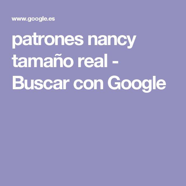 patrones nancy tamaño real - Buscar con Google