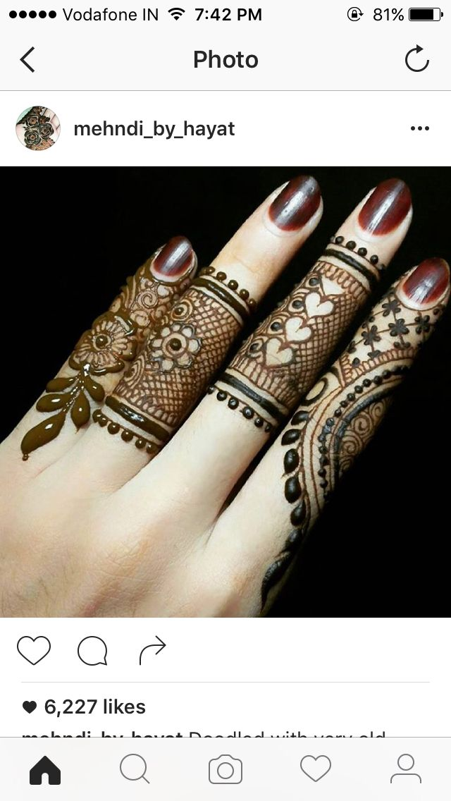 Beautiful finger henna