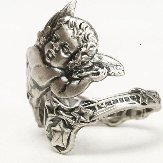 Cupidon et anneau flèche Cupidon bijoux bague de par Spoonier