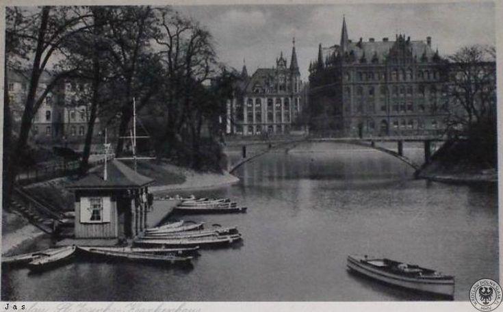 Szpital św. Józefa w 1938 roku widziany z Zatoki Gondoli.Rok 1938