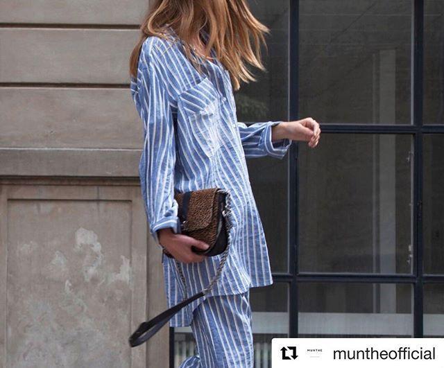 Deilig skjorte og bukse fra @muntheofficial  Du finner det på . #kvalitet #utvalg #merkevarer #klareforvår #traakkinn #munthe #velkommentiloss #granpåhadeland  @muntheofficial