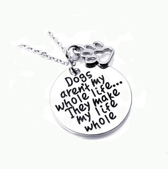 Dog Pendant Metal Tag Necklace