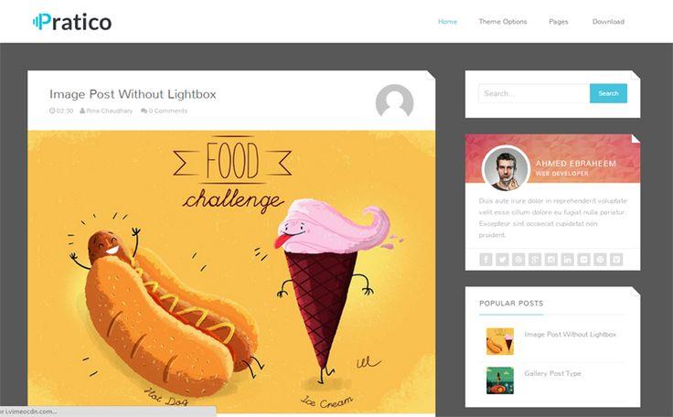 Pratico Dark Blogger Template é um template blogger para blog pessoal e etc. Com layout responsivo, Pratico Dark tem 2 colunas, 1 sidebar direita, cabeçalho flutuante, background cinza, botões de compartilhamento social abaixo de cada post, locais para posicionar anúncios e muito mais.