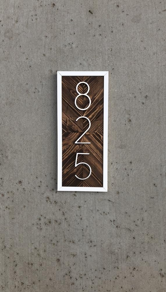 House Numbers Vertical Vertical House Numbers House Numbers Vertical Hanging House Number Sign Housewarming Gift Address Sign Vertical House Number Sign Beach Cottage Decor Cottage Signs