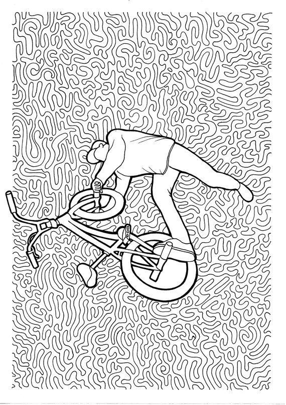 Full Length Kids Bike Coloring Page Download Free Full Length