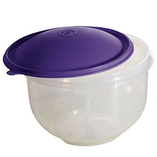 Tupperware Lettuce keeper! Everyone needs one. I love to have a head of lettuce around and some shredded rotisserie chicken.  A delicious quick meal that is also cost efficient.
