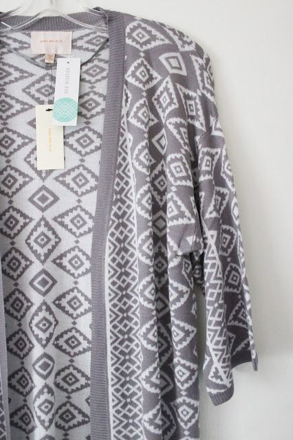 I think this is the one from my style card that I really want to get. Please, please, please! :) Stitch fix spring 2016 Gray Geometric cardigan