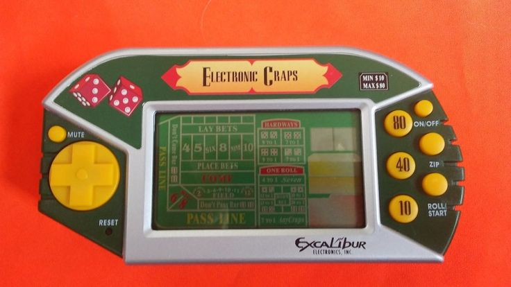 Excalibur Electronic CRAPS Learn to play Casino Game Portable Handheld Player #ExcaliburElectronics