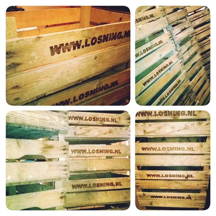 Bedrijfslogo op houten krat #kerstcadeau #bedrijf #promotie #stoer #uniek www.als-nieuw.com