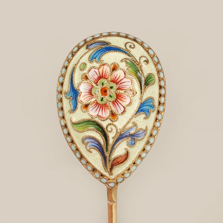 Feodor Ruckert Set of 12 Shaded Enamel Spoons | John Atzbach Antiques