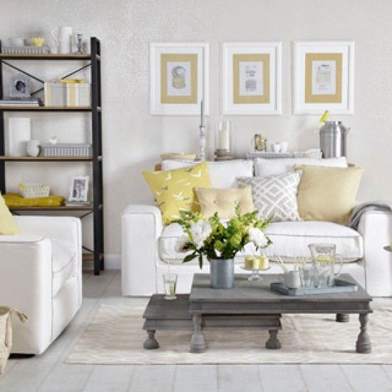 17 best ideas about yellow living rooms on pinterest furniture ideas wall paintings and - Grey and yellow room ...