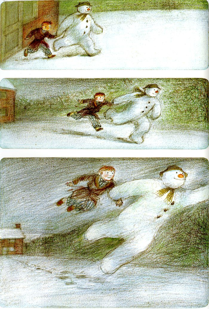 Bottom panel of The Snowman. And the animated version of this was even more mind-blowingly beautiful.