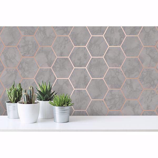 Margaret Grey Marble Hexagon Wallpaper Grey Hexagon Marble Margaret Wallpaper Hexagon Wallpaper Marble Effect Wallpaper Wallpaper Roll