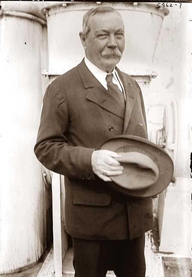 Sir Arthur Conan Doyle - author of many things but famous for his creation of the immortal Sherlock Holmes.