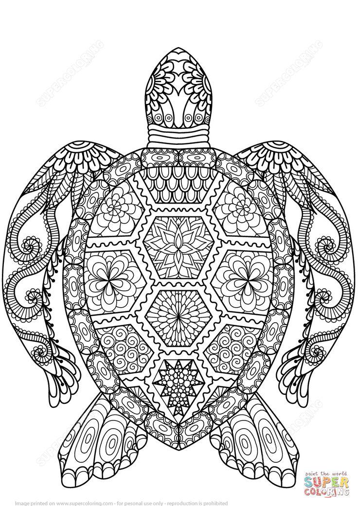 Tortuga Zentangle | Super Coloring