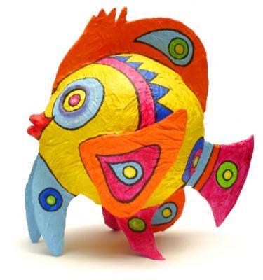 """Fish Pik 45 x 40 x 40 cm"" por Karla Tobar"