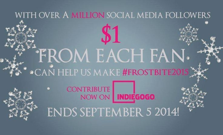 """Every dollar counts when you're trying to raise $1.5M in a month!  """"We need to raise 1.5 million to see Frostbite become a reality. If we raise more, it will only allow us to make an even better film for YOU.""""  #VAFamily #Frostbite2015  https://www.indiegogo.com/projects/frostbite-a-vampire-academy-film"""
