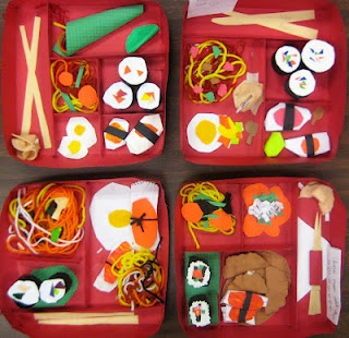 Japanese Bento Box - container in which meal is stored for travel (bento means convenient)