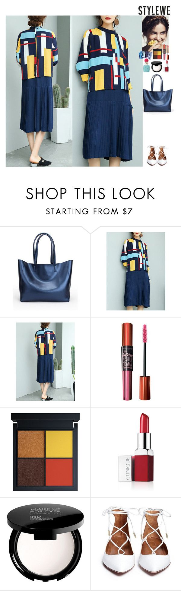 Outfit StyleWe by eliza-redkina on Polyvore featuring мода, MAKE UP FOR EVER, Clinique and Maybelline