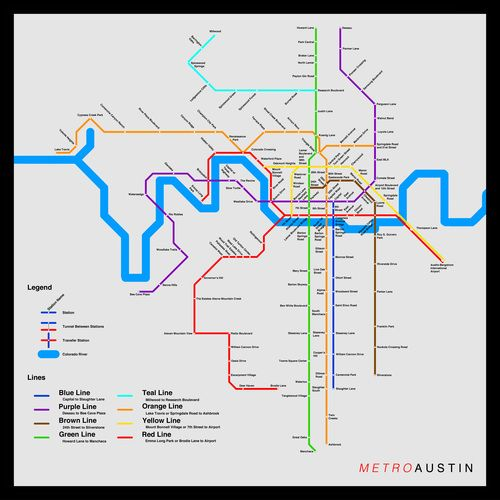 Maps of Mass Transit Systems for Cities without Mass Transit