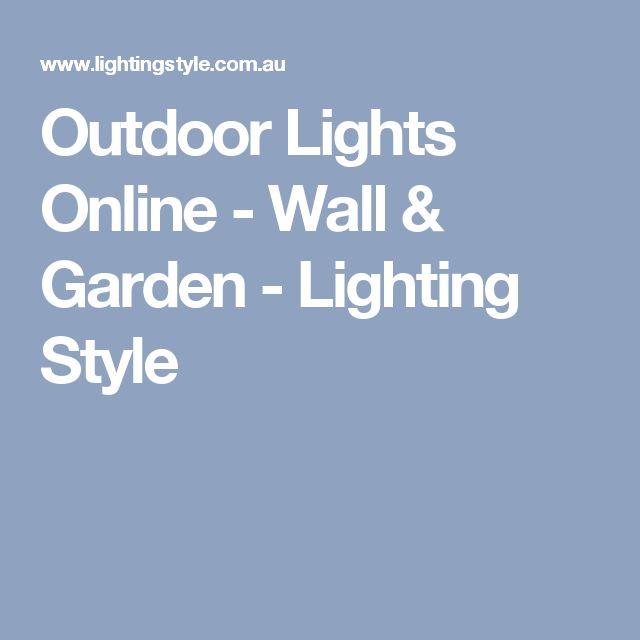 Outdoor Lights Online - Wall & Garden - Lighting Style