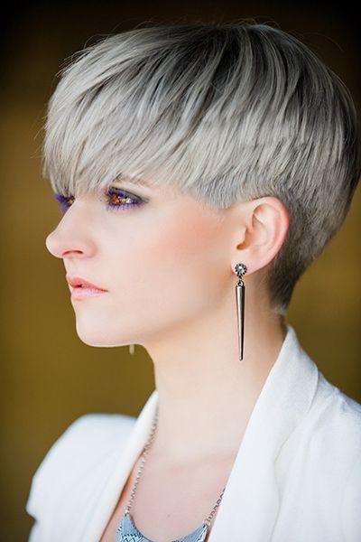 Short Platinum Hair